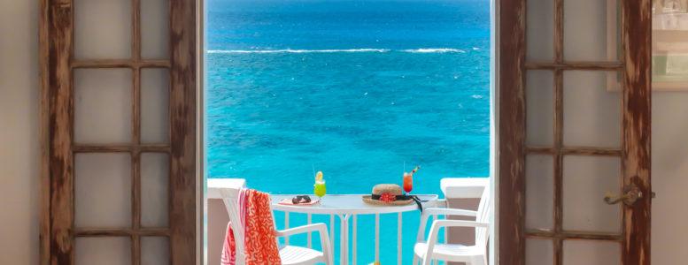 Coral Beach Glenn's View terrace